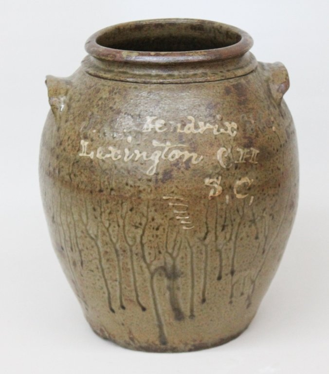 Rare Edgefield Slip Decorated Merchant Jar