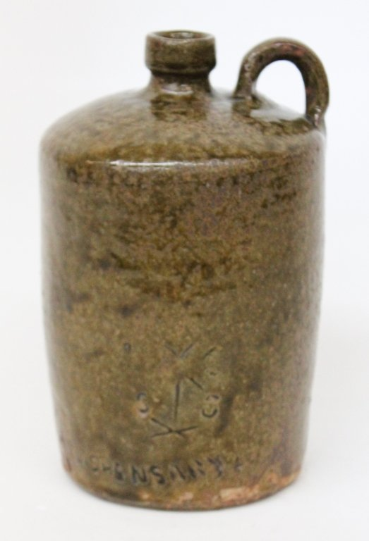 Rare Stamped SC Dispensary Jug, Edgefield
