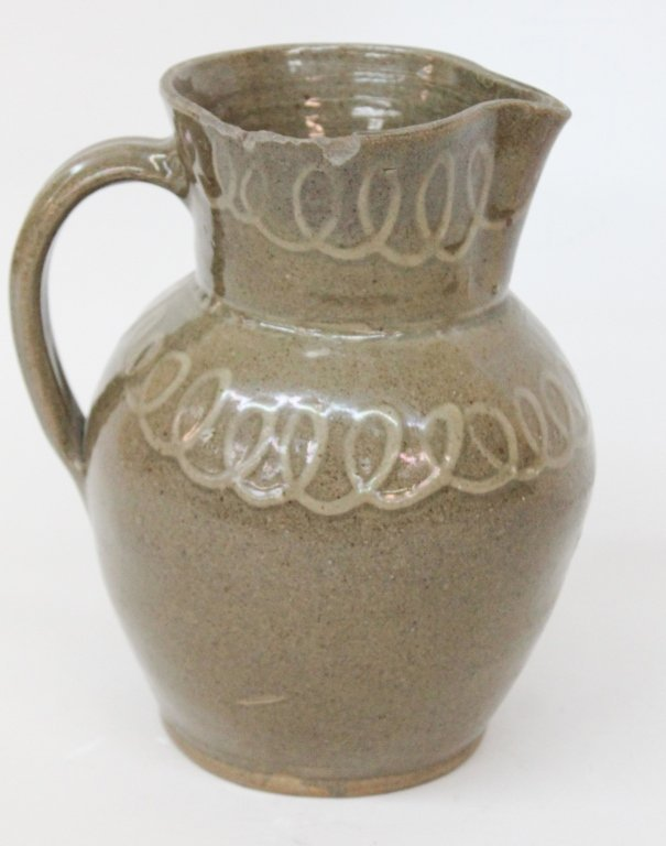 Edgefield District Slip Decorated Pitcher