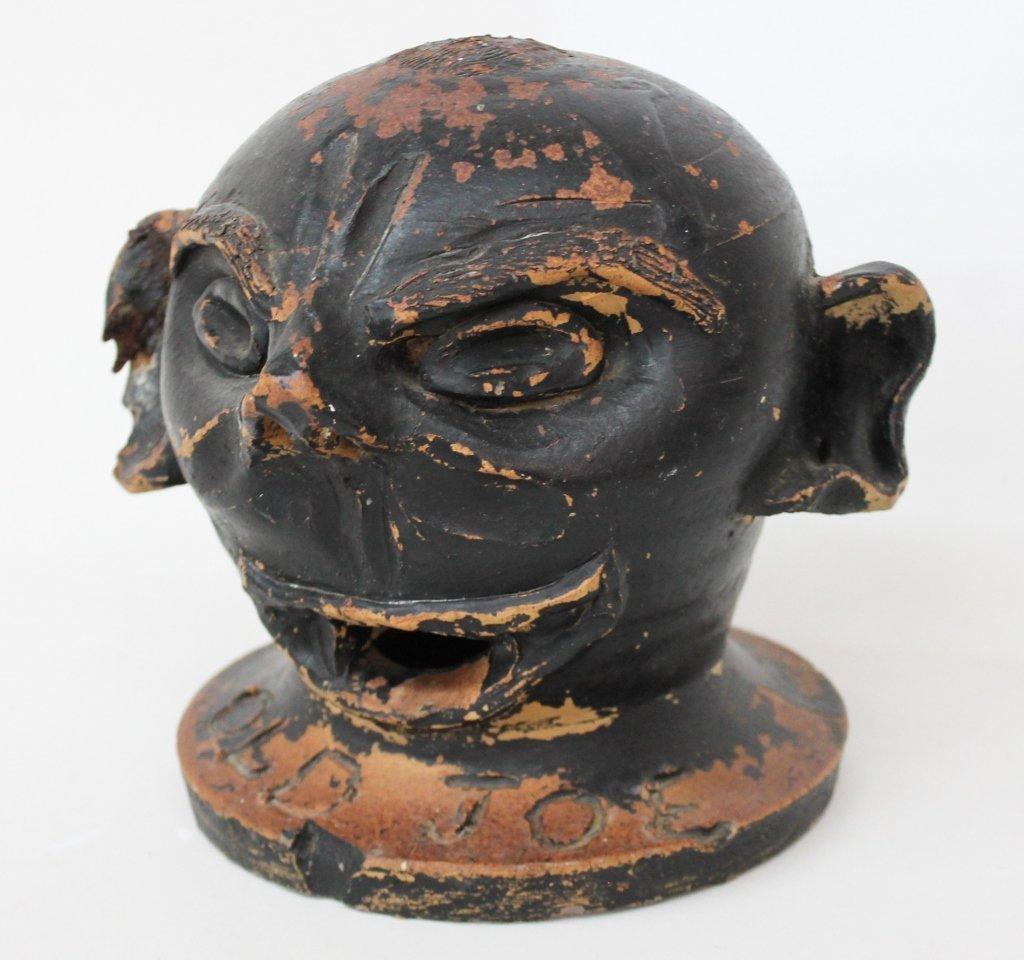 Rare Southern Stoneware Face Vessel