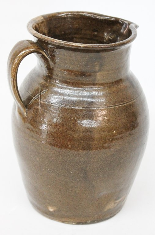 Uncommon Southern Stoneware Pitcher, Edgefield
