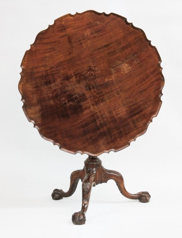 Philadelphia Chippendale Mahogany Claw Foot Tea Table