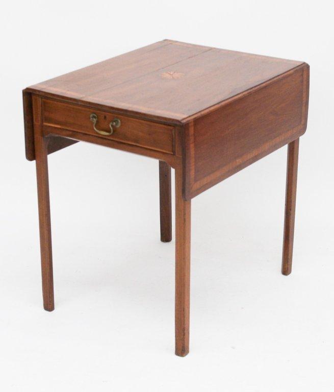 Fine George III Inlaid Mahogany Pembroke Table