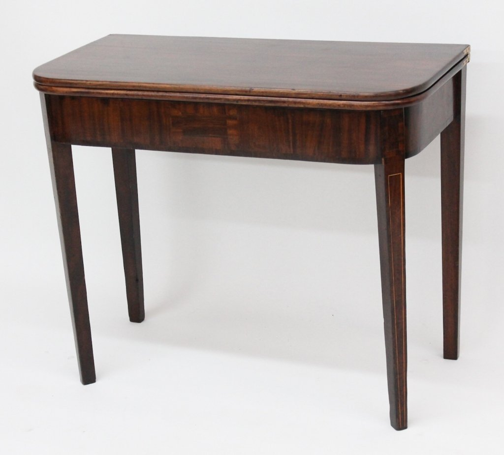 Fine Federal Inlaid Mahogany Games Table