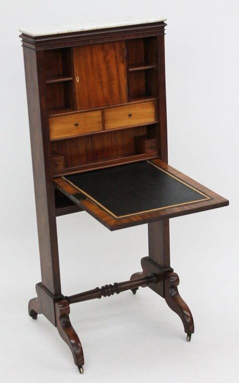 Fine American Classical Mahogany Campaign Desk