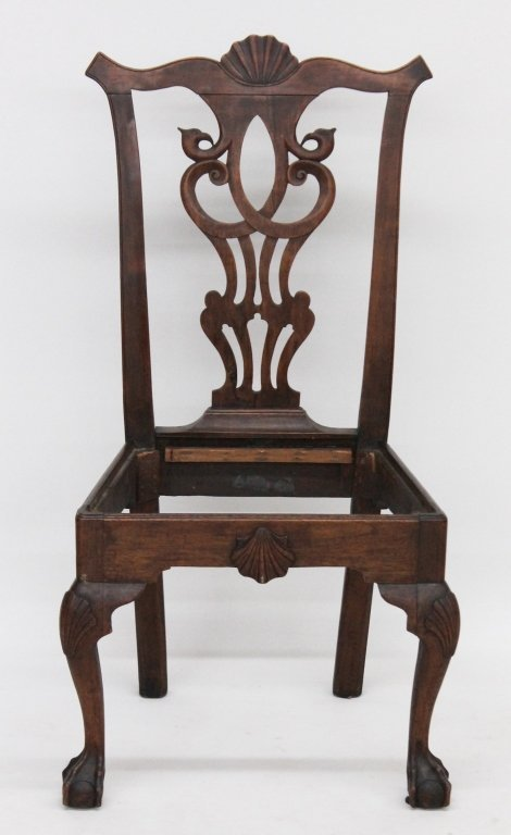 Fine Chippendale Carved Walnut Side Chair