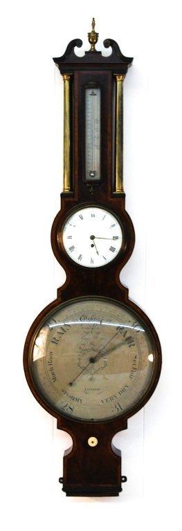 Exceptional Georgian Mahogany Barometer