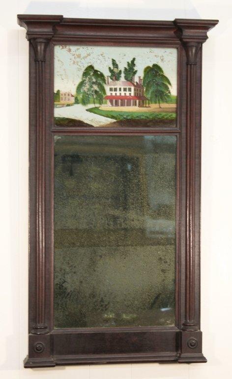 Federal Mahogany Mirror by Wayne & Biddle