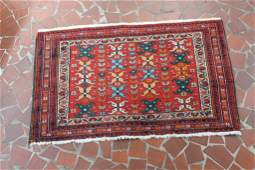 Semi Antique Persian Prayer Rug