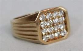 Gentleman's Art Deco Diamond Ring