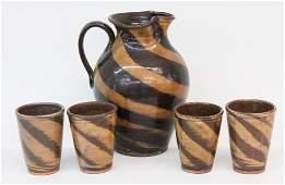 Kim Ellington Southern Stoneware Pitcher & Cups
