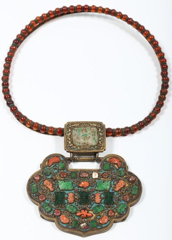 Very Fine Antique Chinese Jade Necklace