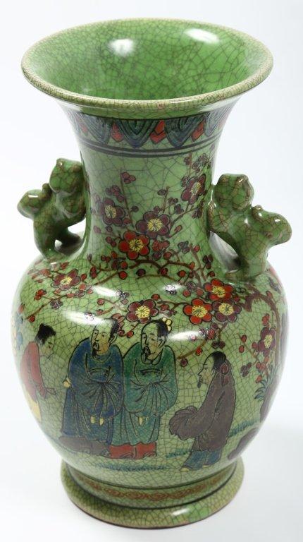 Fine Antique Chinese Porcelain or Earthenware Vase