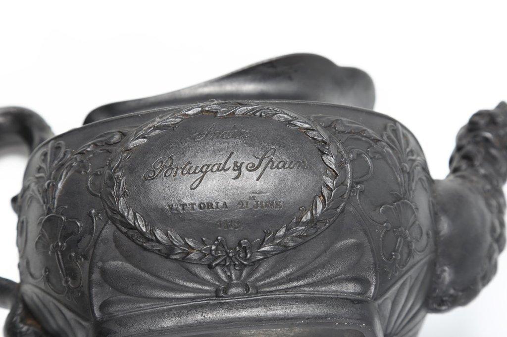 Very Fine Georgian Black Basalt Tea Pot - 3