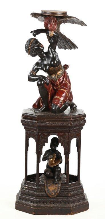 Very Fine Antique Italian Carved Blackamoor