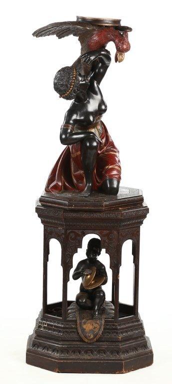 Very Fine Antique Italian Carved Blackamoor - 2
