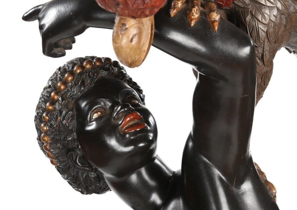Very Fine Antique Italian Carved Blackamoor - 5
