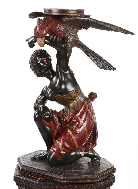 Very Fine Antique Italian Carved Blackamoor - 7