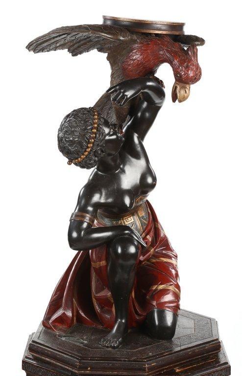 Very Fine Antique Italian Carved Blackamoor - 8
