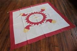 Antique American Applique Eagle Quilt