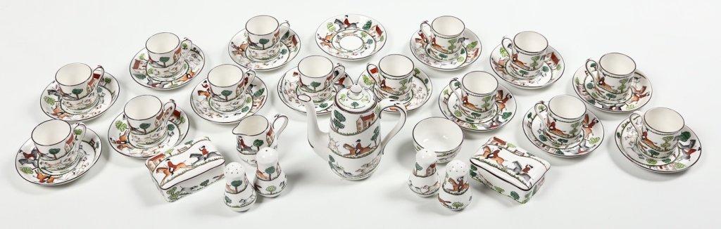 Fine Staffordshire Crown Porcelain Tea Service
