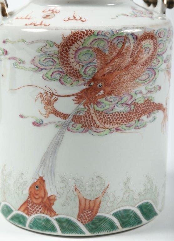 Fine Antique Chinese Porcelain Tea Pot - 2