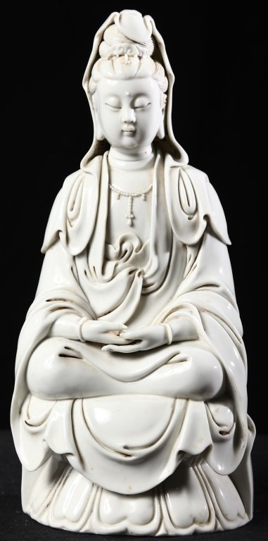Antique Chinese Porcelain Seated Kuan Yin