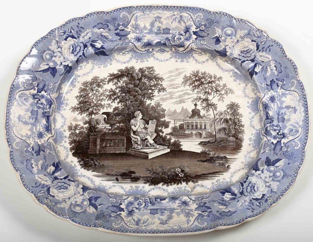 Uncommon British Staffordshire Ironstone Platter