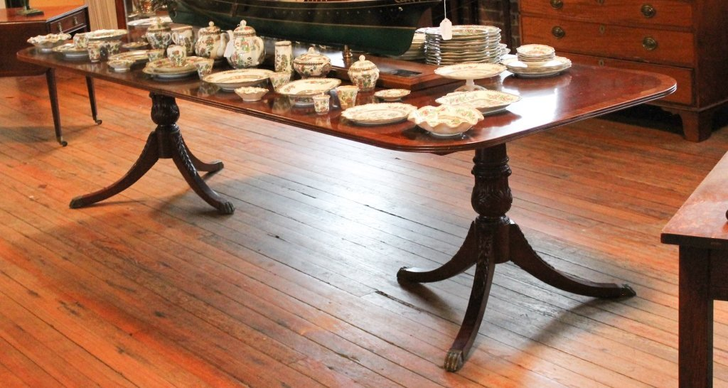 Federal Style Carved Mahogany Banquet Table