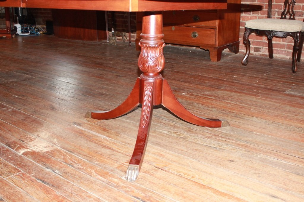 Federal Style Carved Mahogany Banquet Table - 2
