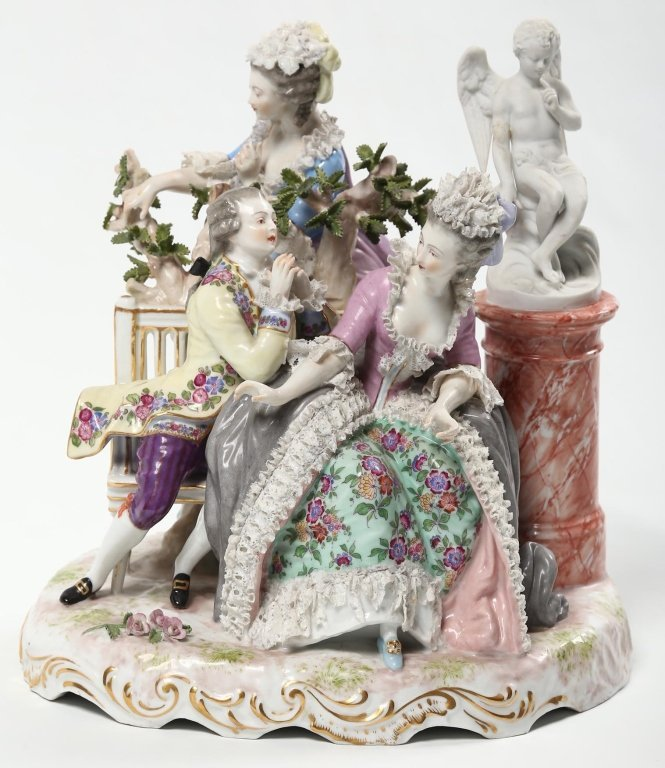 German Figural Porcelain Group