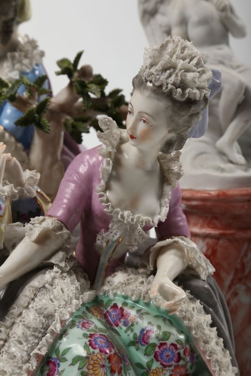 German Figural Porcelain Group - 2