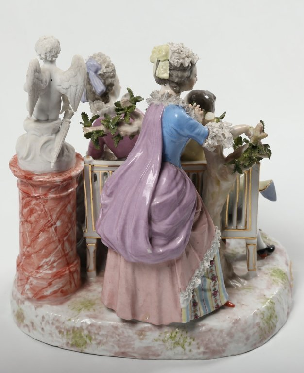 German Figural Porcelain Group - 3