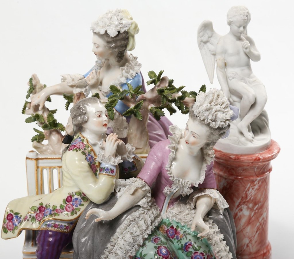 German Figural Porcelain Group - 4