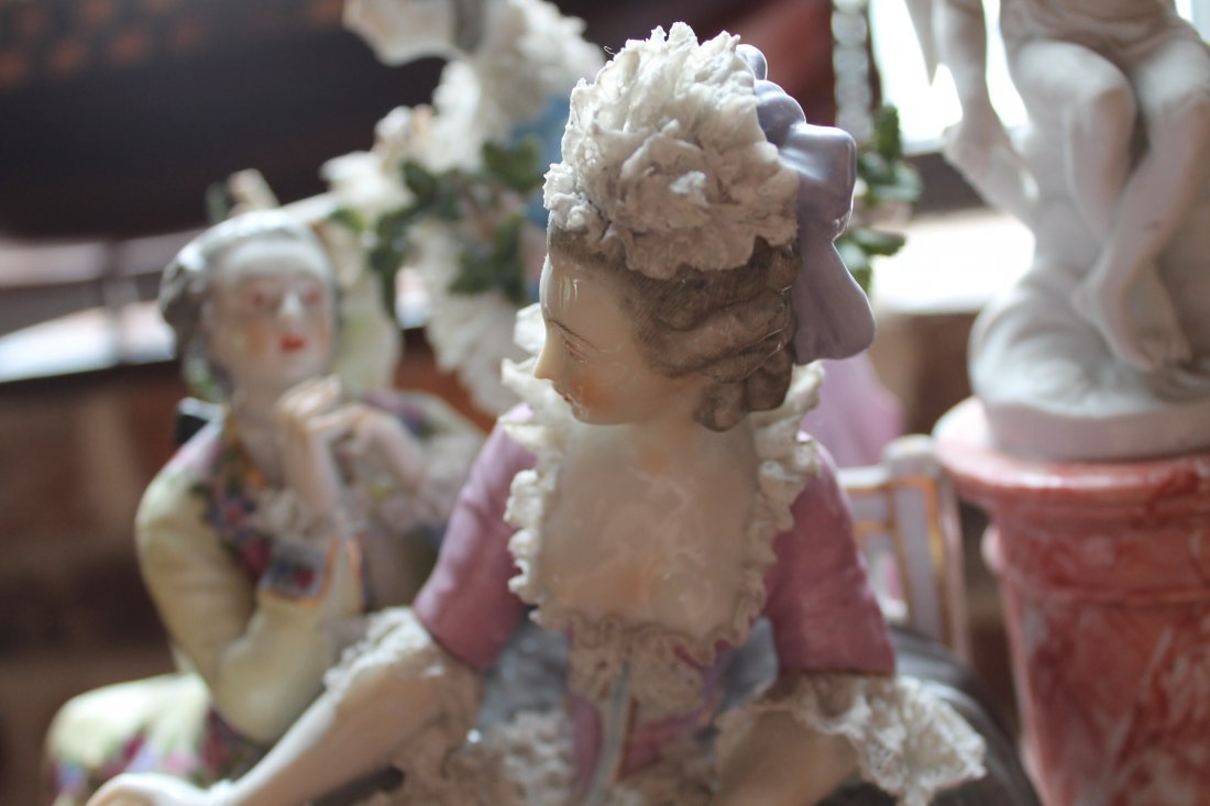 German Figural Porcelain Group - 7