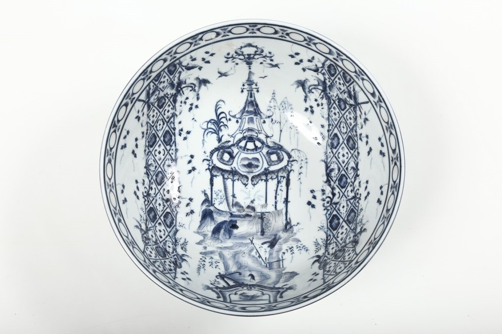 Antique Continental Porcelain Punch Bowl - 2