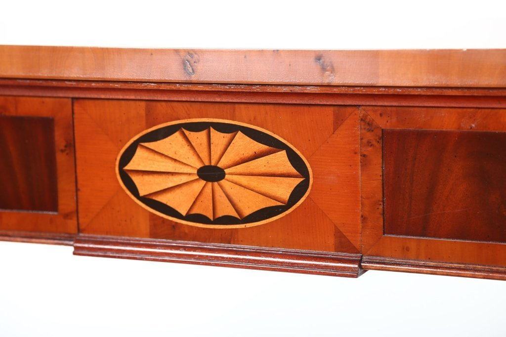 George III Style Mahogany & Yew Wood Console Table - 3