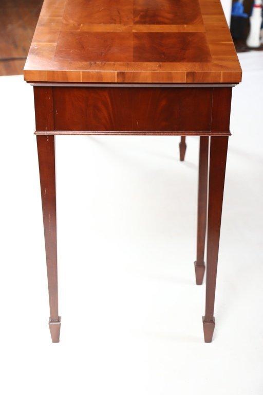 George III Style Mahogany & Yew Wood Console Table - 4