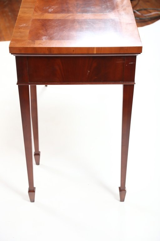 George III Style Mahogany & Yew Wood Console Table - 5