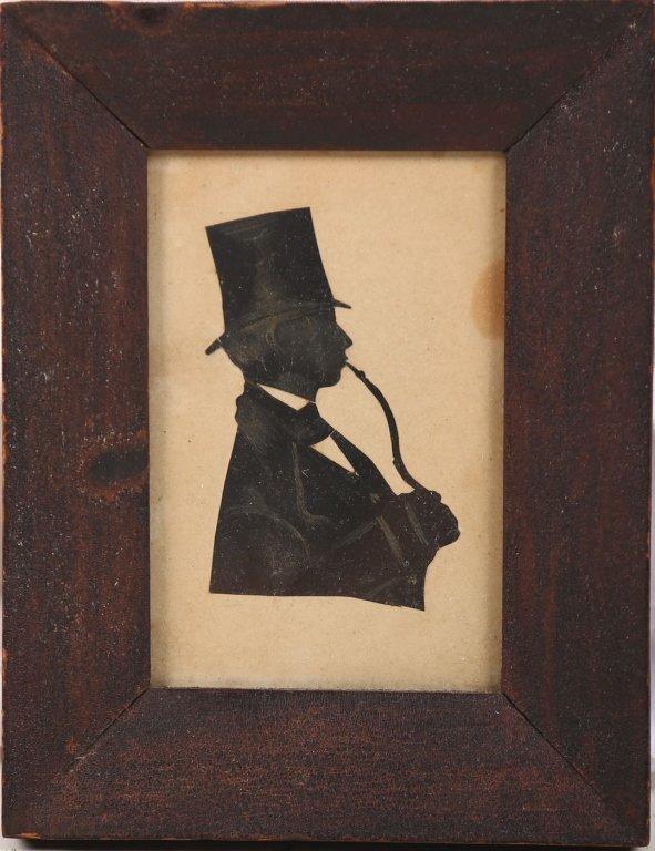 Antique Silhouette Portrait of Gentleman