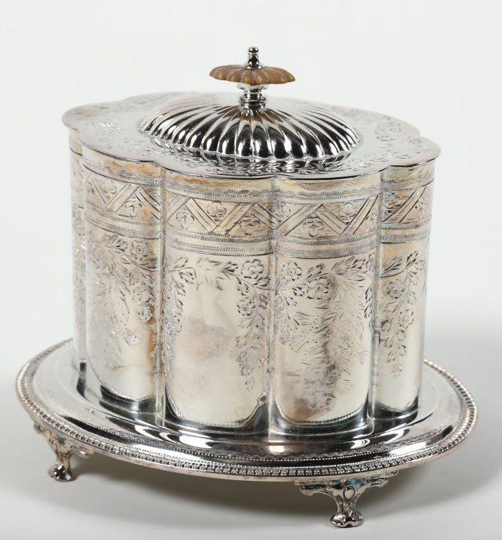 Old Sheffield Plate Biscuit Box