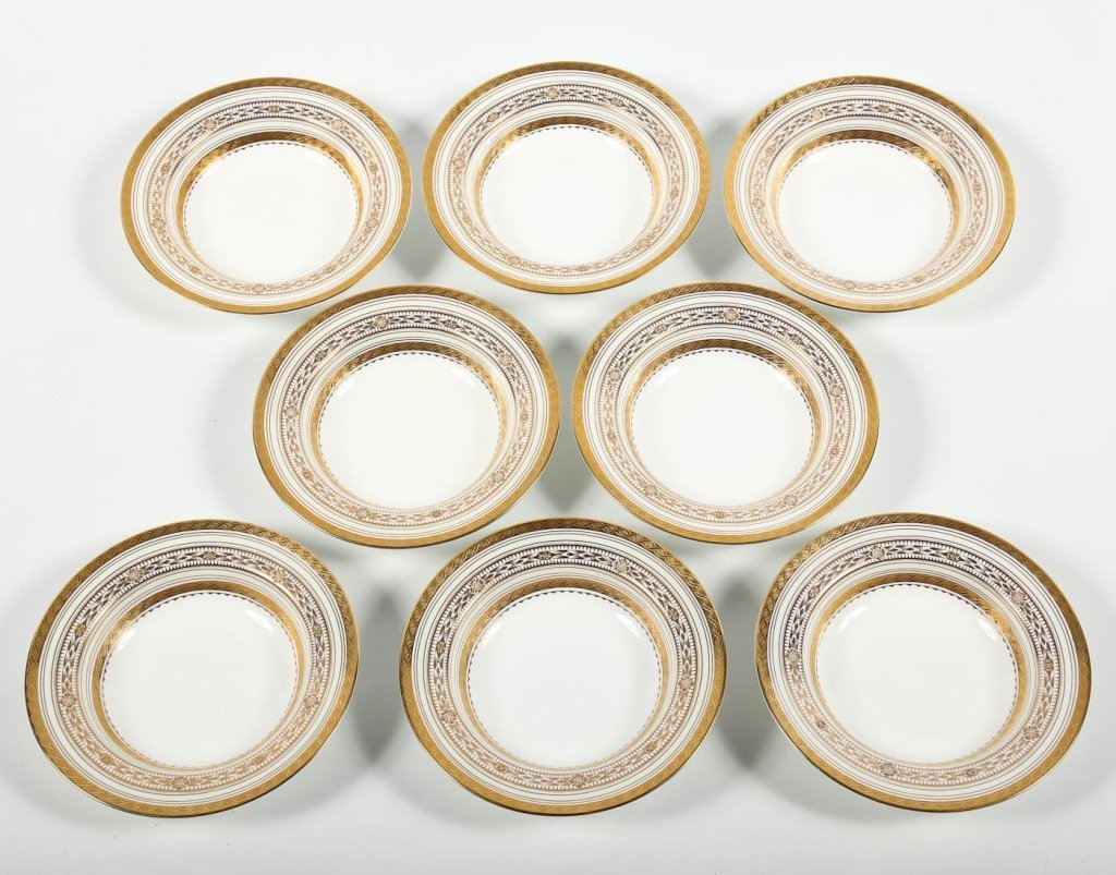 Very Fine Set Eight Minton/Tiffany Soup Bowls