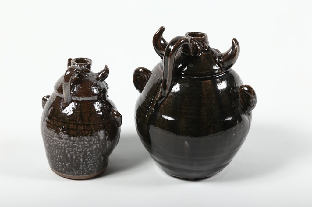 Two Southern Stoneware Devil Face Jugs - 3