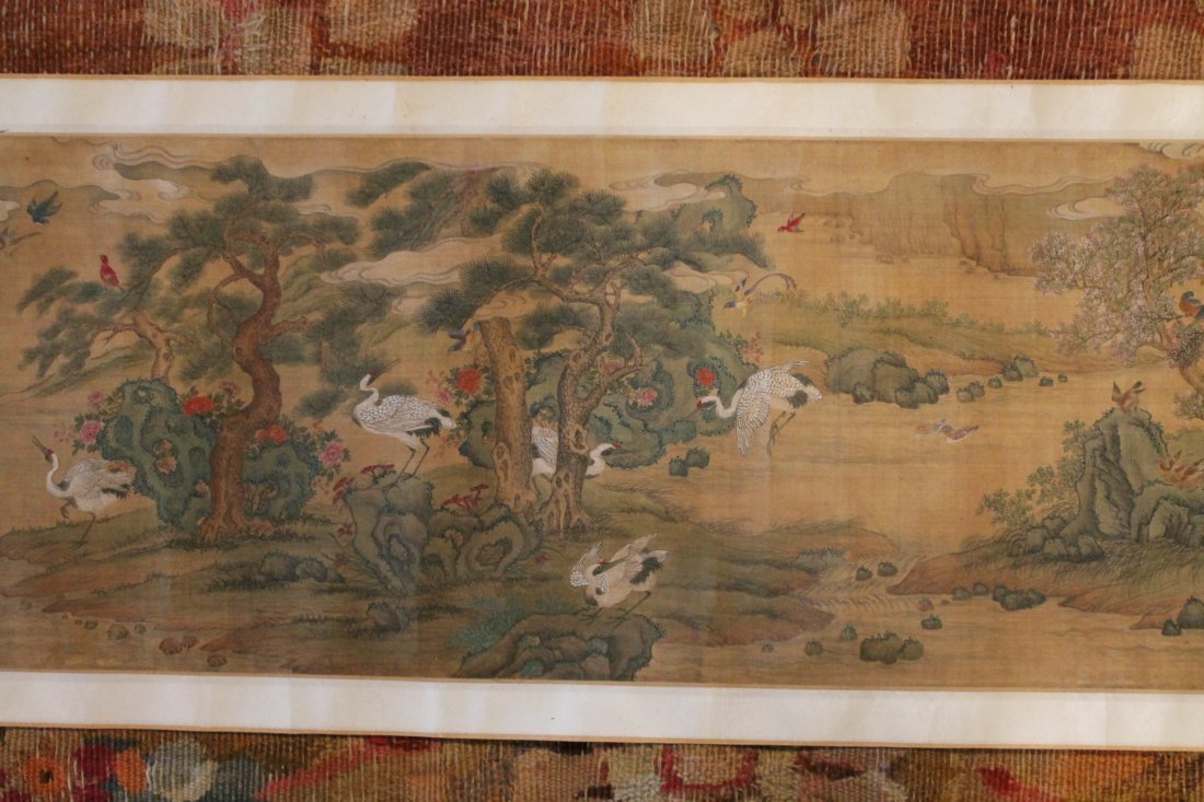 Rare Chinese Qing Period Watercolor Scroll