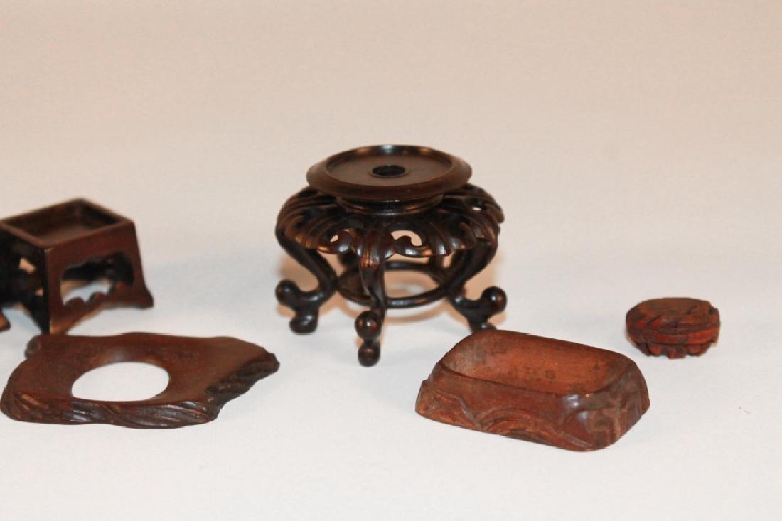 Antique & Vintage Chinese Carved Hardwood Stands - 2