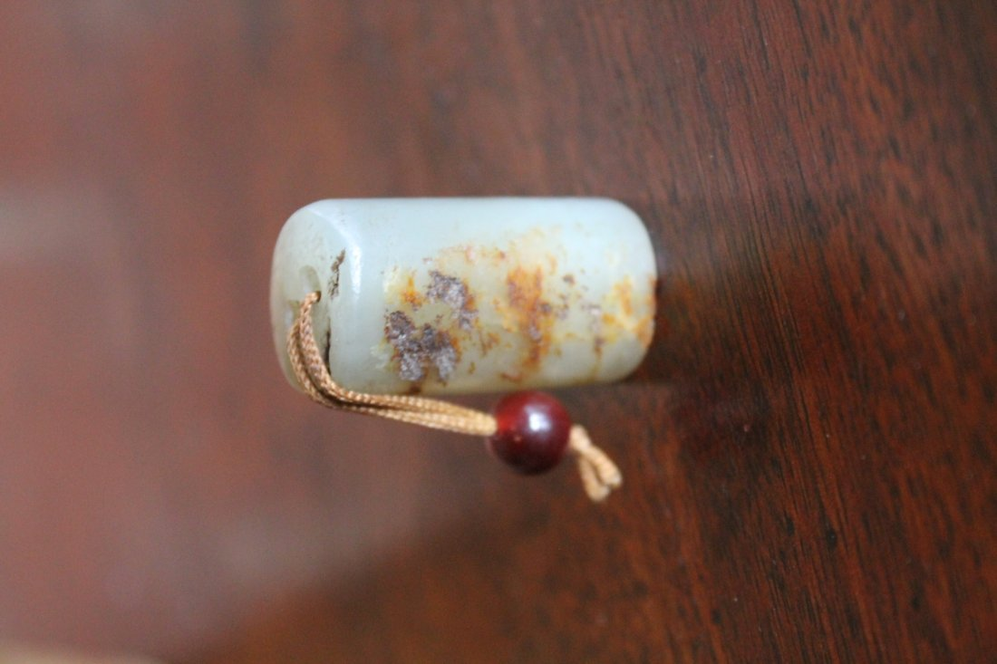 Antique Chinese Carved Jade Page Or Scroll Weight - 7