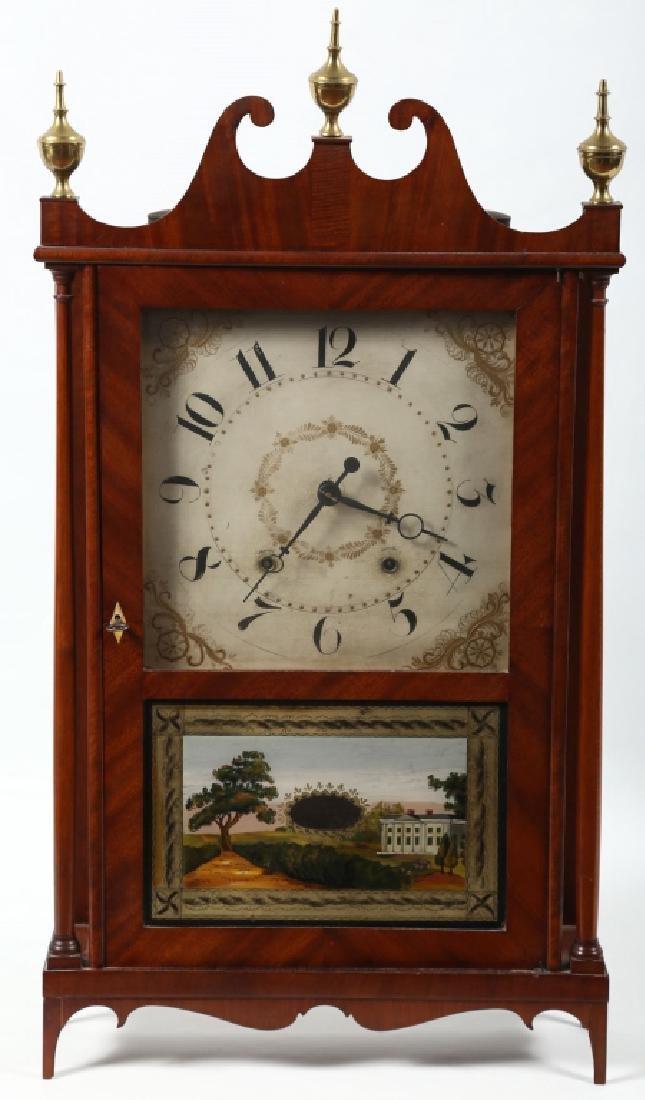 Very Fine Connecticut Federal Mahogany Clock