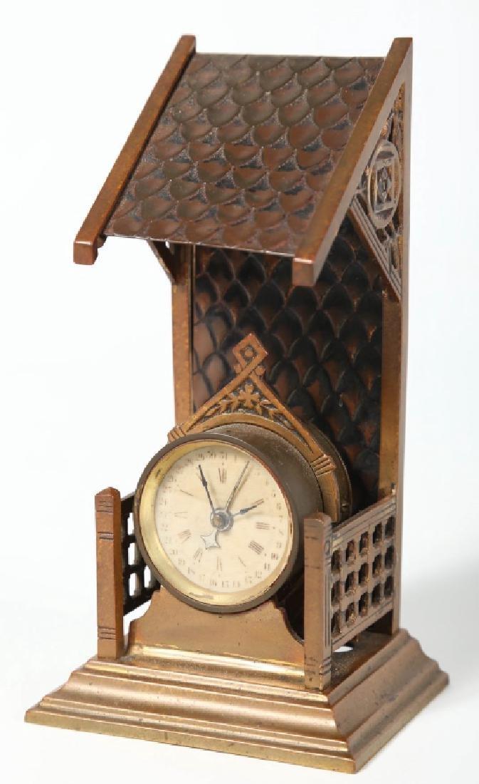 Brass Novelty Calendar Clock
