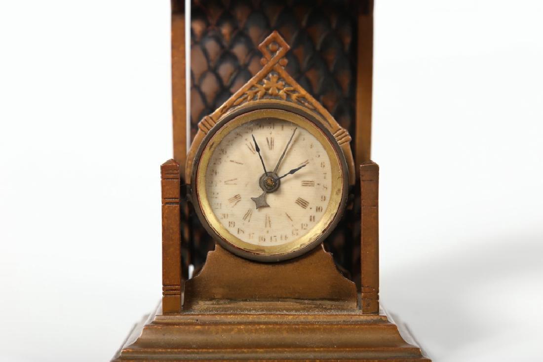 Brass Novelty Calendar Clock - 3