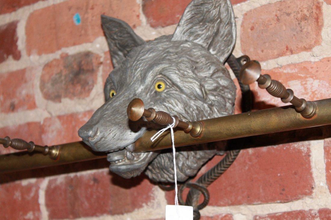 Exceptional British or American Fox Head Coat Rack - 8